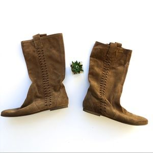 Nine West Taupe Suede Boots